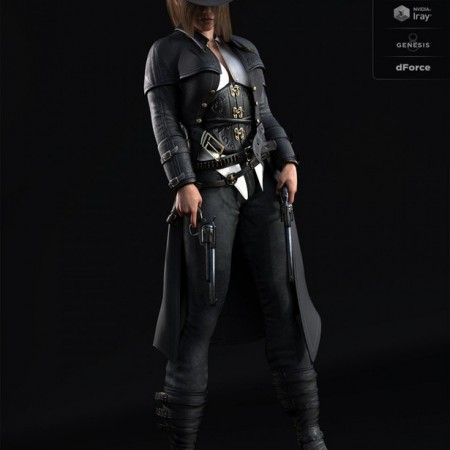 dForce Bang Bang Jackie Outfit for Genesis 8 Female(s)