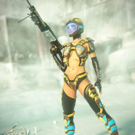 Scifi Sniper Suit for Genesis 2 Female(s)