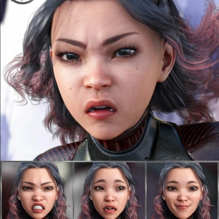 Superhero - Expressions for Genesis 8 Female and Sukai 8