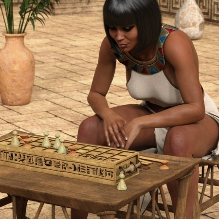 Egyptian Senet Game and Poses for Genesis 8