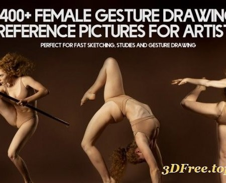 Artstation – 400+ Female Gesture Drawing Reference Pictures for Artists