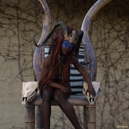 African Thone for Daz Studio