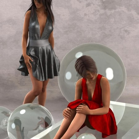 Playful Flirt Dress for Genesis 2 Female(s)