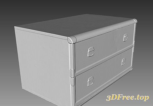 Cuberbrush - Chest of Drawers - 3D Scan