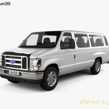 Ford E-Series Passenger Van 2011 3D model