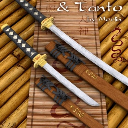 Wakizashi and Tanto by Merlin