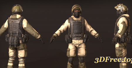 Russian Soldier, Military and Police, Customizable
