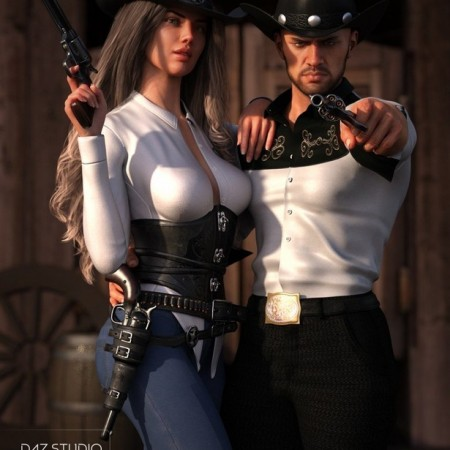 Desperado Gun Poses and Prop for Genesis 8 Male