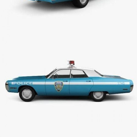 Plymouth Fury Police 1972 3D Model