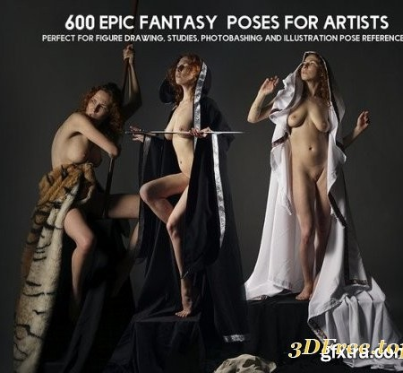 ArtStation - Grafit Studio - 600+ Epic Female Fantasy Pose Reference Pictures