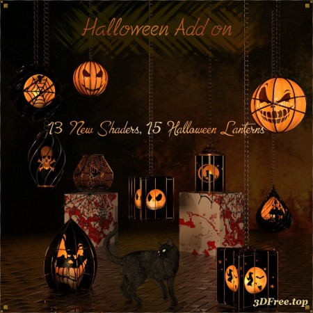 Caged Lanterns - Halloween Add on for DAZ