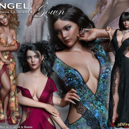 Angel dForce Gown for G3 and G8 Females