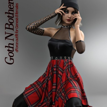 Goth N Bothered dForce outfit for Genesis 8 Females