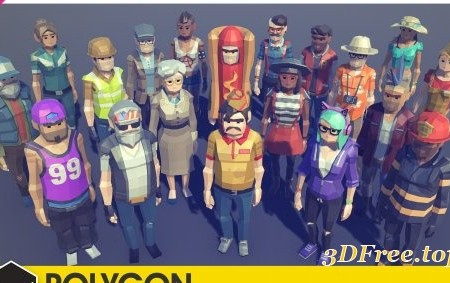POLYGON - City Characters Pack 1.1