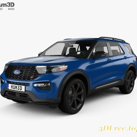 Ford Explorer ST 2020 3D model