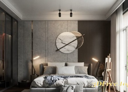 Interior Bedroom Scene Sketchup by Dinh Huy