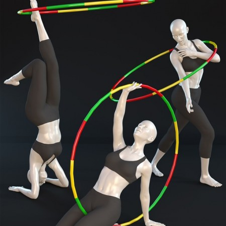 Hula Hoop - Poses for Victoria 8 and Genesis 8 Female(s)