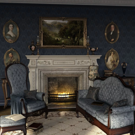 The Blue Room Iray for Victorian Decor 2 and 3