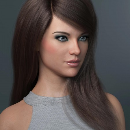 Swept Bangs Hair for Genesis 3 and 8 Females