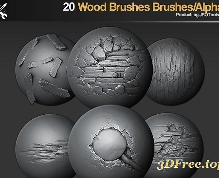 ArtStation Marketplace – ZBrush/SP – 20 Wood Brushes/Alphas Vol.1