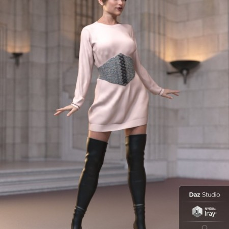 dForce Bustier Dress Outfit for Genesis 8 Female(s)