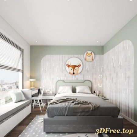Bedroom Sketchup Scene 55