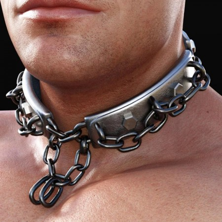 Metal Choker for Genesis 8 Males