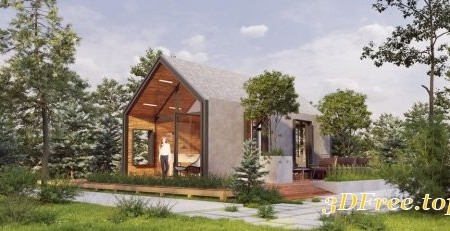 Exterior House Scene Sketchup 04