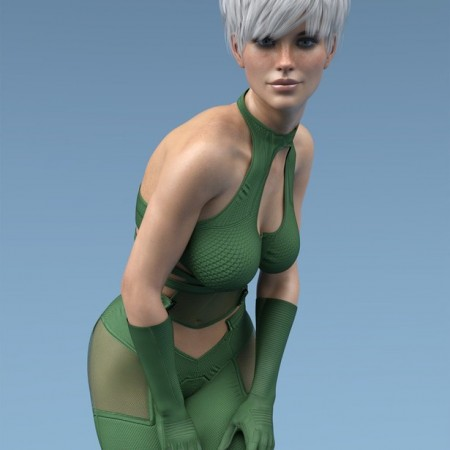 X-Fashion Dark Sci Outfit for Genesis 8 Females