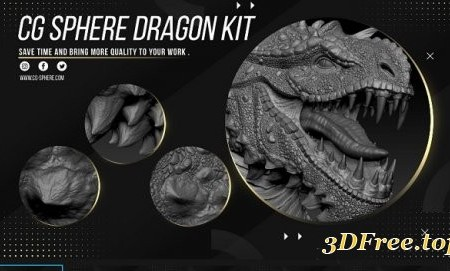 Artstation – CGSphere Dragon Kit Alphas Zbrush