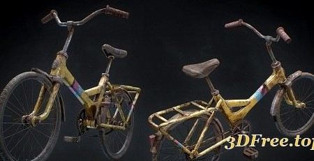 Old Rusted Bike 3D model