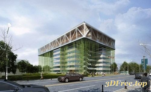CGtrader - Exterior Office Building 3D Exterior Scene