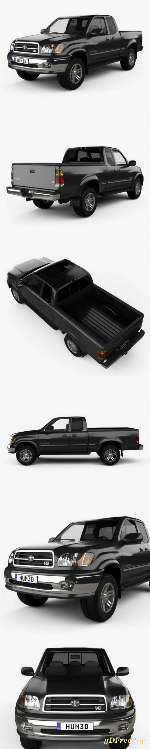 Toyota Tundra Access Cab SR5 1999 3D model