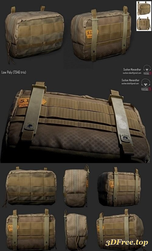Tactical Pouch 3d model