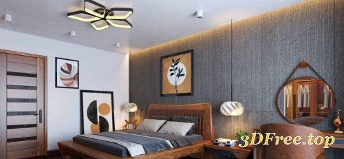 Interior Bedroom Scene Sketchup By Xuan Khanh