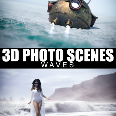 3D Photo Scenes - Waves