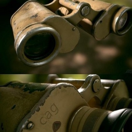 WW2 German Military Afrika Corps Binoculars