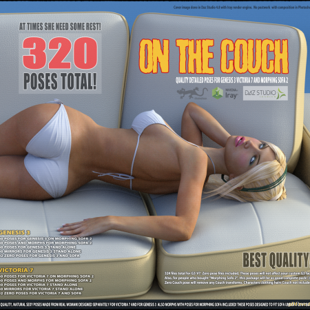On The Couch - Poses for G3V7