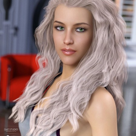 Whitney Hair for Genesis 3 & 8 Female(s)