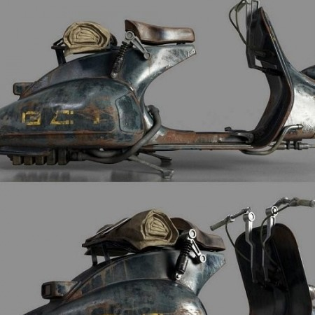 Vintage Vespa Speeder Bike 3d model