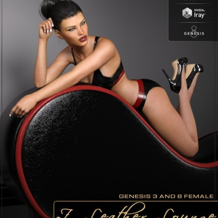 Z Leather Lounge - Prop and Poses for Genesis 3 and 8 Female