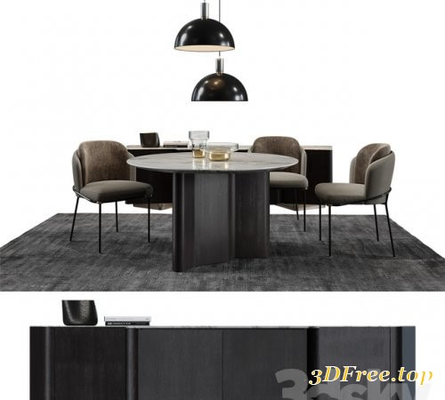 Minotti Set / Fil Noir 3d model