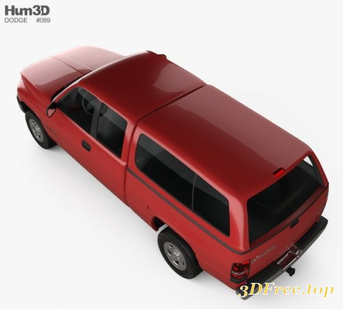 Dodge Ram 1500 Club Cab ST 1999 3D model