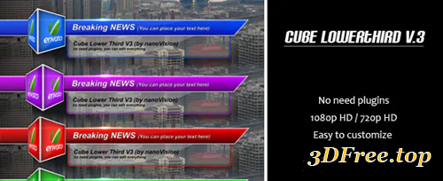Videohive Cube Lower Third V.3 3808087