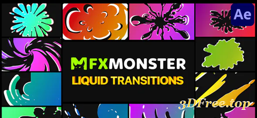 Videohive Liquid Transitions | After Effects 30545710