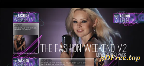 Videohive The Fashion Weekend V.2 lowerthird pack 5060719