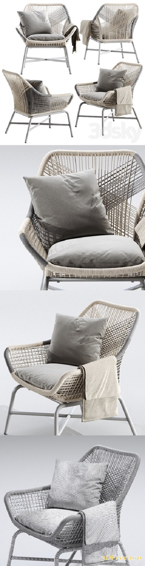 Westelm Huron Outdoor Small Lounge Chair