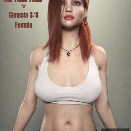 SC Mia Hair for Genesis 3 - 8 Female