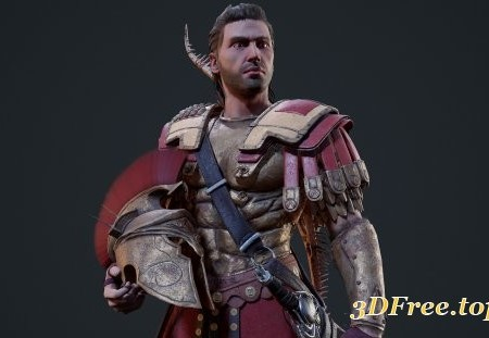 Assassin�s Creed Odyssey Character Fan Art - Spartan War Hero - Realtime