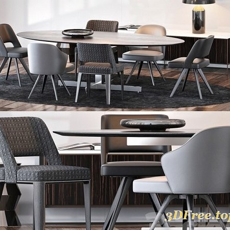 MINOTTI SET 16 3D Model